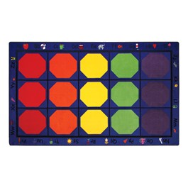 "Alphabet Seating Rug™ - Rectangle (5\' 10"" W x 8\' 4\"" L)"