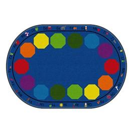 "Alphabet Seating Rug™ - Oval (5\' 10\"" W x 8\' 4\"" L)"