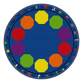 Alphabet Seating Rug™ - Round  (6\' Diameter)