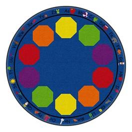 Alphabet Seating Rug™ - Round  (6\' Diameter)