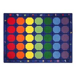 "Alphabet Seating Rug™ - Rectangle (7' 6"" W x 12' L)"