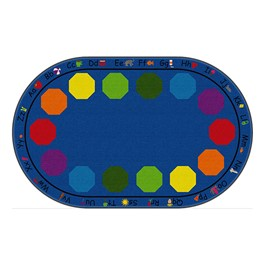 "Alphabet Seating Rug™ - Oval (7\' 6"" W x 12\' L)"