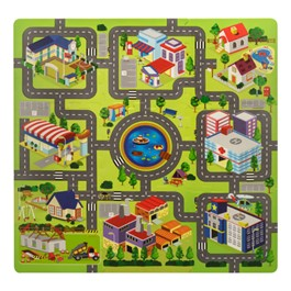 Around the Town Puzzle Mat