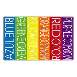 Colors & Languages Rug - Bilingual Blocks™