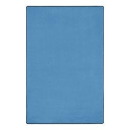 "Solid Color Classroom Rug - Rectangle (7' 6"" W x 12' L) - Bluebird"