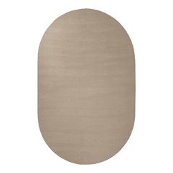 Solid Color Classroom Rug - Oval (4' W x 6' L) - Almond