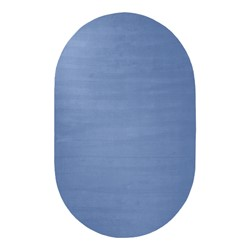 Solid Color Classroom Rug - Oval (4' W x 6' L) - Bluebird