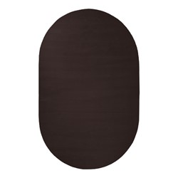 Solid Color Classroom Rug - Oval (4' W x 6' L) - Chocolate