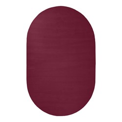 Solid Color Classroom Rug - Oval (4' W x 6' L) - Cranberry