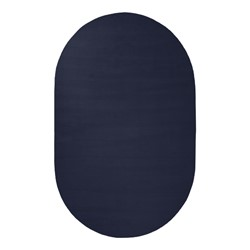 Solid Color Classroom Rug - Oval (4' W x 6' L) - Navy