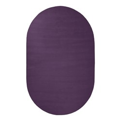 Solid Color Classroom Rug - Oval (4' W x 6' L) - Pretty Purple