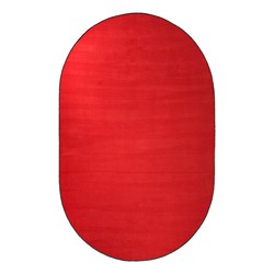 Solid Color Classroom Rug - Oval (4' W x 6' L) - Rowdy Red
