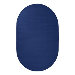 Solid Color Classroom Rug - Oval (4' W x 6' L) - Royal Blue
