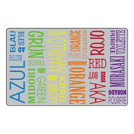 Colors & Languages Rug - Multilingual Letters™