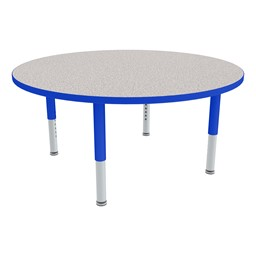 Round Adjustable-Height Mobile Preschool Activity Table-Chown ab Glides