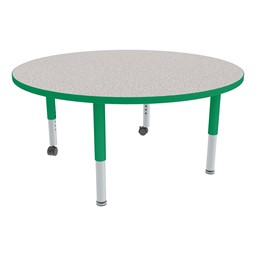 Round Adjustable-Height Mobile Preschool Activity Table-Chown ab So