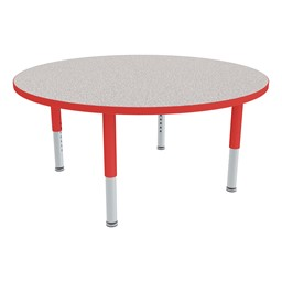 Round Adjustable-Height Preschool Table