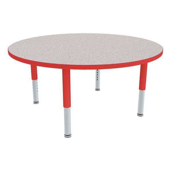 """Round Adjustable-Height Preschool Table  (36"""" Diameter)"""