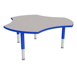 Preschool Crescent Mobile Collaborative Table - Shown w/ Glides