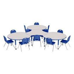 Preschool Crescent & Cog Mobile Collaborative Table & Chair Set