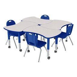 Preschool Bow Tie Mobile Collaborative Table & Chair Set
