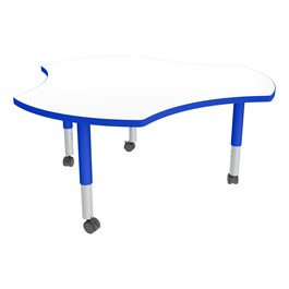Cog Adjustable-Height Mobile Preschool Collaborative Table w/ Whiteboard Top