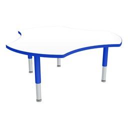 Preschool Cog Mobile Collaborative Table w/ Whiteboard Top - Shown w/ Glides