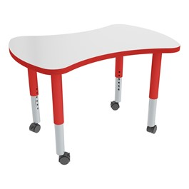 Bow Tie Adjustable-Height Mobile Preschool Collaborative Table w/ Whiteboard Top