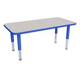 Rectangle Adjustable-Height Mobile Preschool Activity Table