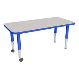 """Rectangle Adjustable-Height Mobile Preschool Activity Table - 24"""" W x 48"""" L"""
