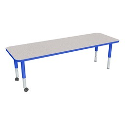 """Rectangle Adjustable-Height Mobile Preschool Activity Table - 24"""" W x72"""" L"""