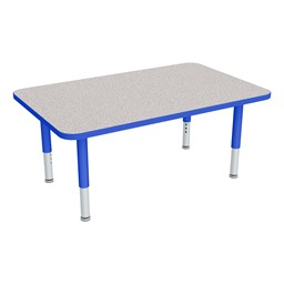 "Rectangle Adjustable-Height Preschool Table (24"" W x 48"" L)"