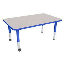 """Rectangle Adjustable-Height Mobile Preschool Activity Table - 30"""" W x 48"""" L"""