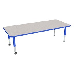 """Rectangle Adjustable-Height Mobile Preschool Activity Table - 30"""" W x 72"""" L"""