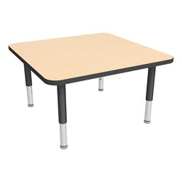 Square Adjustable-Height Mobile Preschool Activity Table-Chown ta Glide