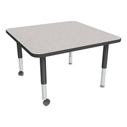 Square Adjustable-Height Mobile Preschool Activity Table-Chown ta Gybk