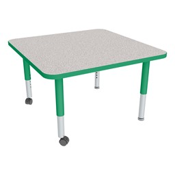 Square Adjustable-Height Mobile Preschool Activity Table-Chown ta Gygr