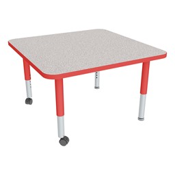 Square Adjustable-Height Mobile Preschool Activity Table-Chown ta Gyrd