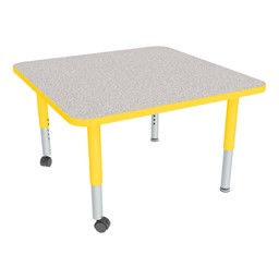 Square Adjustable-Height Mobile Preschool Activity Table-Chown ta Gyye