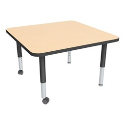 Square Adjustable-Height Mobile Preschool Activity Table-Chown ta Mpbk
