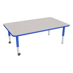 """Rectangle Adjustable-Height Mobile Preschool Activity Table - 36"""" W x 60"""" L"""