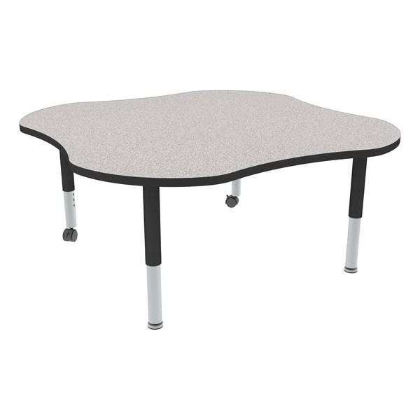 Clover Adjustable-Height Mobile Preschool Activity Table-Chown ta Gybk