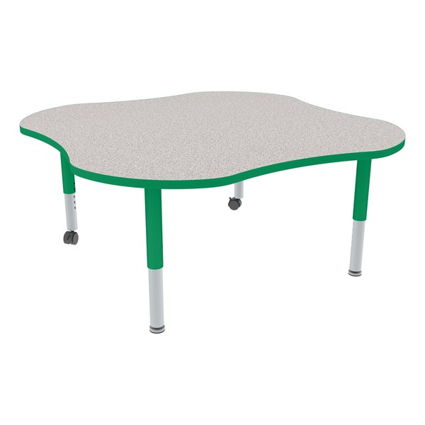 Clover Adjustable-Height Mobile Preschool Activity Table-Chown ta Gygr