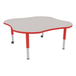 Clover Adjustable-Height Mobile Preschool Activity Table-Chown ta Gyrd