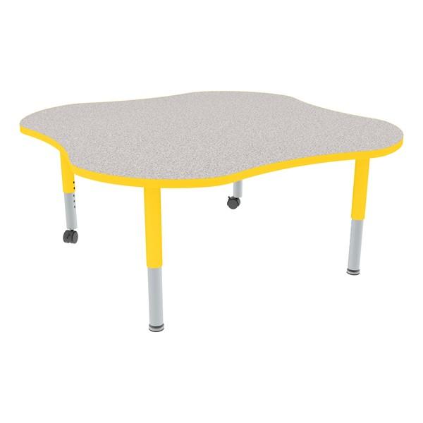 Clover Adjustable-Height Mobile Preschool Activity Table-Chown ta Gyye