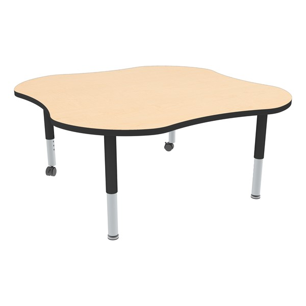 Clover Adjustable-Height Mobile Preschool Activity Table-Chown ta Mpbk