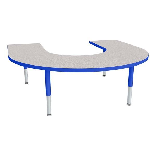 "Horseshoe Adjustable-Height Preschool Table - (66"" W x 60"" L)"
