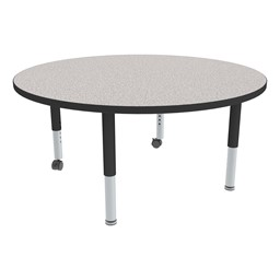 Round Adjustable-Height Mobile Preschool Activity Table-Chown ab Gybk