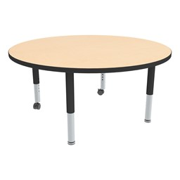 Round Adjustable-Height Mobile Preschool Activity Table-Chown ab Mbbk