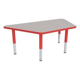 Trapezoid Adjustable-Height Preschool Table